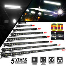 "8""14""20""26""32""38""44""50"" LED Light Bar 6D Reflector Super Bright Pickup UTV SUV"