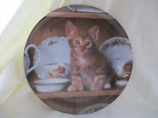 """Picture Purrfect""  Set of 8 Hand-numbered Collector Cat Plates."