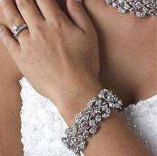 CLEARANCE Vintage Inspired Crystal Rhinestone Bridal Bracelet (Sparkle-91)