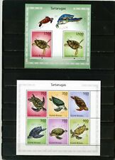 GUINEA BISSAU 2010 FAUNA TURTLES SHEET OF 6 STAMPS & S/S MNH