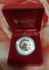 1/2 Oz Coloured Silver Lunar Dragon In Perth Mint Box (Auspost Exclusive)
