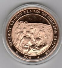 Students Unrest Flares On College Campuses 1970 - Bronze Coin