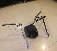 Suzuki M50 C50 M90 Crusier Motorcycle Windshield - Stainless Steel - CLEAR