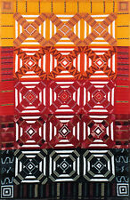 New Pieced GEOMETRIC Quilt Pattern 59x71