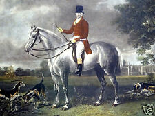"""Henry Calvert (England, 1798-1869) """"Lord Delamare"""" Engraved by CG Lewis Fox Hunt"""