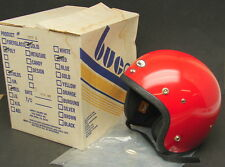 Vtg New NOS 1977 Buco Open Face Red Motorcycle Helmet Childs Medium 1773-2