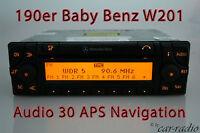 Original Mercedes Audio 30 APS Navigationssystem 190er Baby Benz W201 Navi Radio