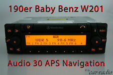 Original Mercedes Navigationssystem Audio 30 APS 190er Baby Benz W201 Navi Radio