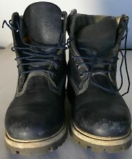 TIMBERLAND MENS BLUE LEATHER BOOTS SIZE 9M