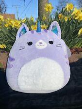 Squishmallow Large Analea Caticorn NWT Cat Unicorn Light Purple Lavender