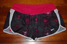 Women's Nike DriFit Pink Splatter Fitness Running Shorts (Small)