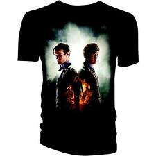 Day of the Doctor Who Black T-Shirt  YOUTH XL  Smith and Tennant NWT 10th 11th