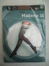 "Sheer Stockings - to wear with suspenders, size L-XL (UK 6-8) - colour ""Diamond"""
