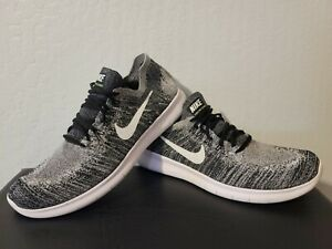 Size 12 - Nike Mens Free Rn Flyknit 2017 Oreo 880843-003