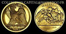 Médaille Napoléon 1er WATERLOO 18 Juin 1815 Médaille Dorée