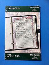 Day Runner 1995 Perennials Things to Do Three Ring Organizers 30 Sheets 750-232