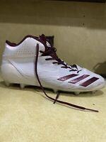 Adidas Adizero 5-Star 6.0 Mid Football Cleats White/Maroon BW1088 size 12