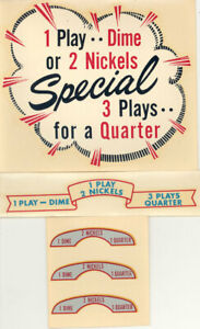"""1950s juke box """"bubble"""" Pricing Decal plus wall box decals - all 3 in one offer"""