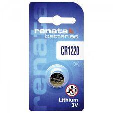 1 x Renata Batterie CR1220 Lithium 3V Knopfbatterie CR 1220 Knopfzelle