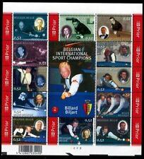 Belgique**BILLARD-Feuillet 12vals-Raymond Ceulemans-2006-BILLIARD Biljart-NSC