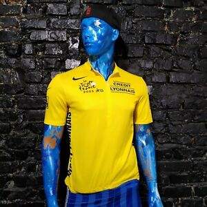 Le Tour De France 2005 Cycling Nike Credit Lyonnais Mesh Panels Jersey Mens XL