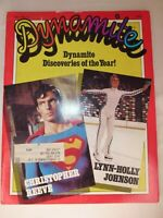 1979 Dynamite Magazine w Christopher Reeve Superman, Topps Baseball Cards Inside
