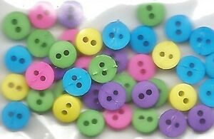 TINY ROUND GARDEN BUTTONS 2 Hole Sewing Card Making Scrapbooking Stamping