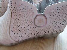 Rieker Sommer-Kurz-Stiefelette Gr. 42 beige rosé Lochmuster Reißverschluss