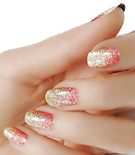 Rose Gold Ombre color wraps real nail polish strips M86 street art