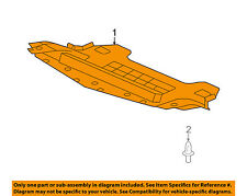 Cadillac GM OEM 04-09 SRX Splash Shield-Underbody Under Engine Cover 25802220