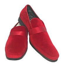 Zapatos de vestir para Hombres ESMOQUIN Couture rojo Mocasines Formal Boda Baile de graduación novio 10M