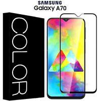 PELLICOLA VETRO TEMPERATO CURVO 5D per Samsung Galaxy A70 COPERTURA FULL DISPLAY