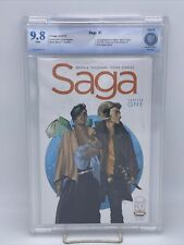 Saga #1 (2012) 9.8 Cbcs WHITE   Cgc 1st Printing, Image, Bkv Vaughan, Staples