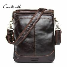 Mens Crossbody Bag Casual Business Small Genuine Leather Shoulder Bag