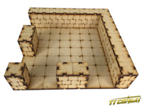 TTCombat – RPG020 - Dungeon Large Corner Section RPG020