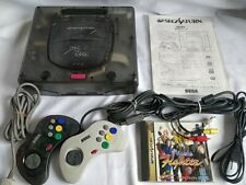 SEGA Saturn SS Limited Clear Skeleton Console HST-3220,Pad,Cable,Game set-c0915-