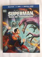 Superman Man of Tomorrow DC Universe BluRay+DVD+Digital Code