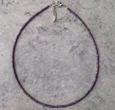 "Seed Bead Anklet/Ankle Bracelet 14"" Purple Rainbow Angel Wing Glass"