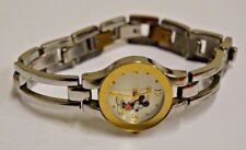 Vintage Women's Mickey Mouse Disney Silver Tone Metal Wrist Watch MUO993 SII
