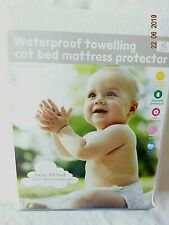 Baby Infant White Towelling Cot Bed Waterproof Mattress Protector 70 X 140cm