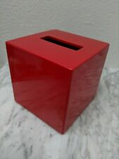Jonathan Adler Happy Home Vintage Red Lacquer Tissue Box
