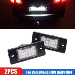 2Pcs LED License Plate Light For Volkswagen VW Golf4 MK4 Variant Bora Jetta