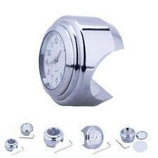 "7/8"" 1"" Motorcycle Bike Chrome Waterproof Dial Handlebar Clock Glow Watch"