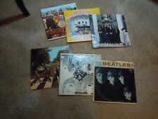 ESTATE LOT OF 6 BEATLES ALBUMS: REVOLVER, MEET THE BEATLES, ABBEY ROAD, Sgt PEPP