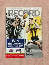 COLLINGWOOD V HAWTHORN AFL 2011 1ST PRELIMINARY FINAL RECORD PIES V HAWKS MCG