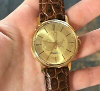 Raketa October Revolution 50 Years Vintage Gold Plated Watch USSR 18k Costume SU