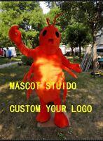Halloween Shrimp Lobster Mascot Costume Cosplay Mascotte Theme Game Dress Adult
