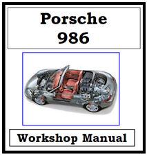 PORSCHE 986 BOXSTER 1996 - 2004 WORKSHOP MANUAL DIGITAL DOWNLOAD