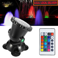 Multi-color 36 LED Underwater Spot Flood Light fr Water Garden Pond Fish Tank US