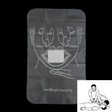10Pcs CPR Facial Shields Disposable CPR Face Mask Barrier First Aid Tool